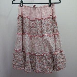 3/$35 Tiered below knee length skirt